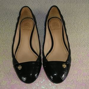Tory Burch women's shoes size 5 black leather.